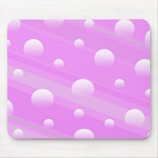 Mousepad con el modelo abstracto rosado del círcul