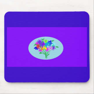 mousepad con el ramo de la flor tapetes de ratón