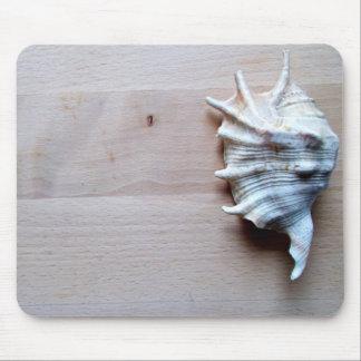 Mousepad con el seashell alfombrillas de ratón