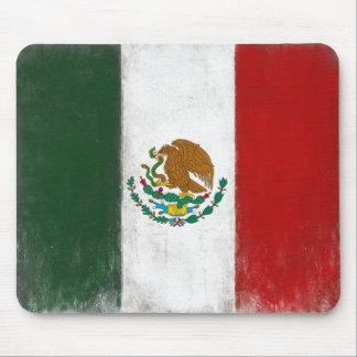 Mousepad con la bandera apenada de México Alfombrilla De Ratones
