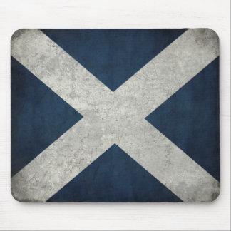 Mousepad con la bandera escocesa sucia alfombrillas de ratones