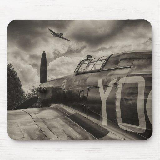 Mousepad con la fotografía de aviones