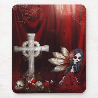 Mousepad con la hada, la cruz, los cráneos y los r tapetes de raton