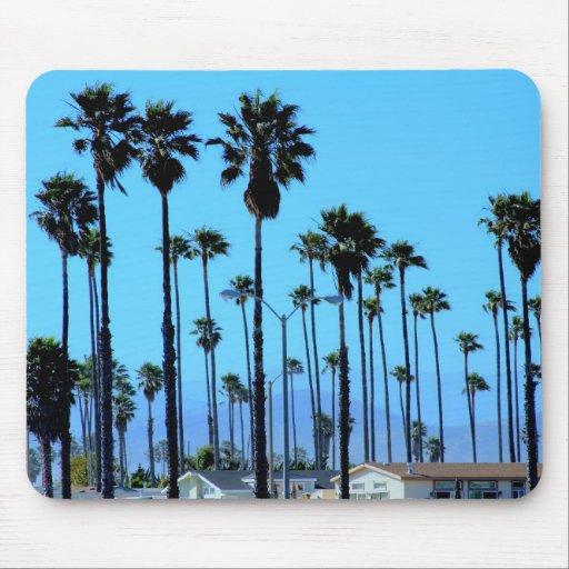 Mousepad con las palmeras en el cielo azul, Califo