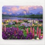 Mousepad con paisaje floral hermoso alfombrilla de ratones