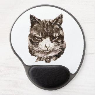 Mousepad con un ejemplo del gato del vintage alfombrillas de raton con gel
