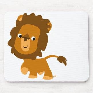 Mousepad contento del león del dibujo animado