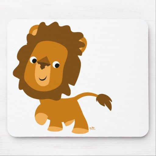 Mousepad contento del león del dibujo animado tapetes de ratón