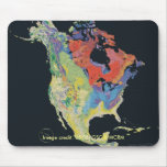 Mousepad/continente norteamericano tapetes de raton