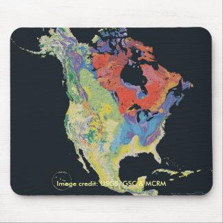 Mousepad continente norteamericano tapetes de raton