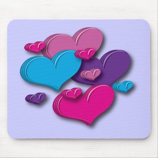 Mousepad corazón-multicolor tapete de raton