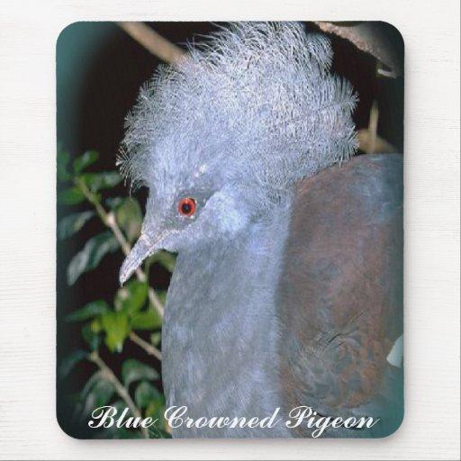 Mousepad coronado azul de la paloma