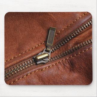 MousePad: Cremallera de la chaqueta de cuero del Tapete De Raton