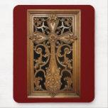 Mousepad cruzado de madera Adornado-Tallado Tapete De Raton