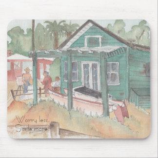 "Mousepad ""Crystal Cove, CA/Watercolor Sketch"""