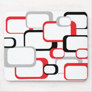 Mousepad cuadrado retro negro y gris rojo tapete de ratones