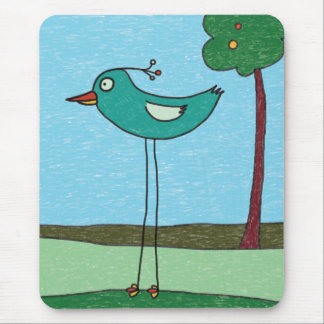 Mousepad, Cute Bird and Tree Mouse Pad