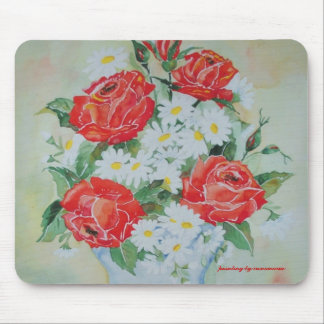 Mousepad Daisies and Roses