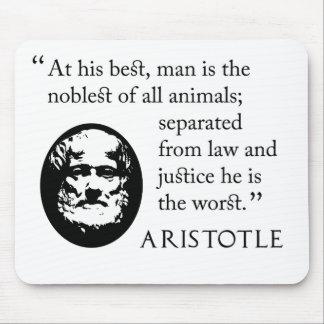 Mousepad de Aristóteles - hombre, más noble de ani