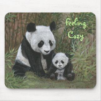 Mousepad de bambú del oso de panda de la jerarquía tapetes de raton