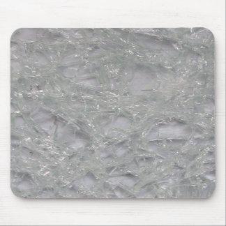 Mousepad de cristal quebrado