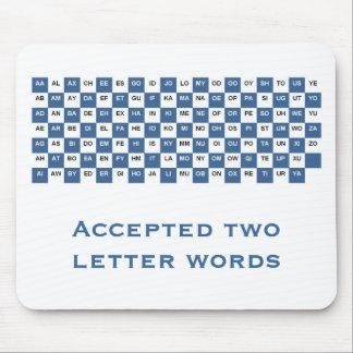 Mousepad de dos palabras de la letra (internaciona