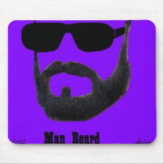 Mousepad de encargo de la barba del hombre cerca: