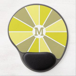 Mousepad de encargo del monograma de la rueda/de alfombrillas con gel