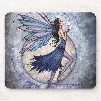 Mousepad de hadas, azul de medianoche por Molly Ha Tapete De Ratón