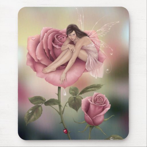 Mousepad de hadas color de rosa