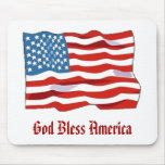 Mousepad de la bandera americana tapetes de raton