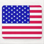 Mousepad de la bandera de los E.E.U.U. Tapetes De Ratones