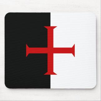 Mousepad de la bandera de Templar Tapete De Raton