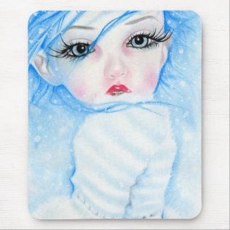 mousepad de la belleza de los copos de nieve