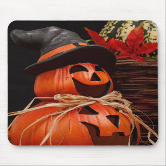 mousepad de la calabaza del feliz Halloween Tapetes De Ratón