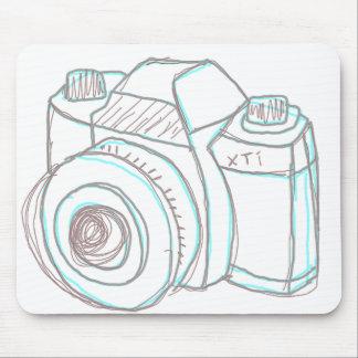 mousepad de la cámara del bosquejo