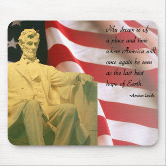 Mousepad de la cita de Abraham Lincoln Tapete De Raton
