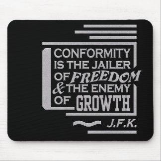Mousepad de la cita de JFK
