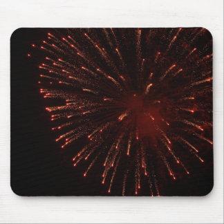 Mousepad de la exhibición de los fuegos artificial tapete de ratones