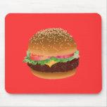 Mousepad de la hamburguesa tapetes de ratones