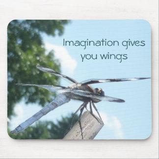 Mousepad de la imaginación de la libélula