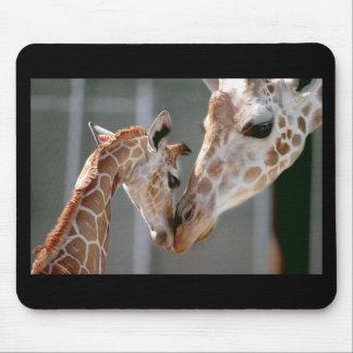 Mousepad de la jirafa y del bebé alfombrillas de ratón