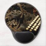 mousepad de la máquina de escribir del vintage alfombrilla de raton con gel