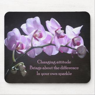 Mousepad de la orquídea - actitud cambiante