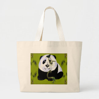 Mousepad de la panda del bebé bolsa tela grande
