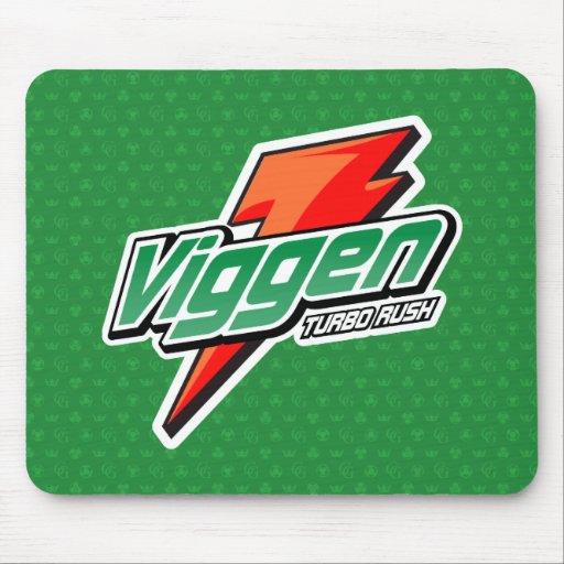 mousepad de la parodia del viggen - verde