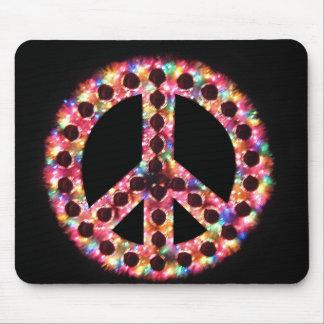 mousepad de la paz de 5 colores