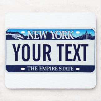 Mousepad de la placa de Nueva York