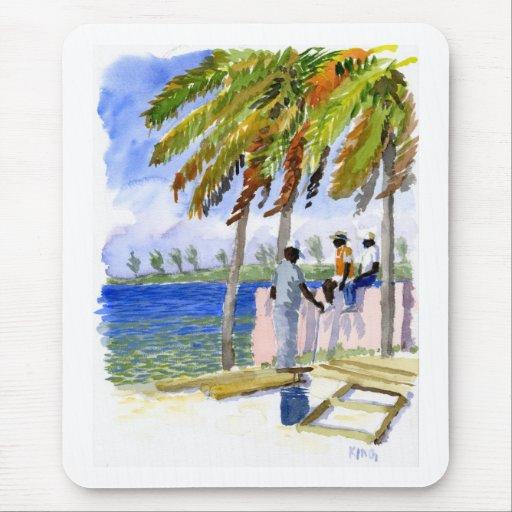 Mousepad de la playa de Nassau Tapete De Raton