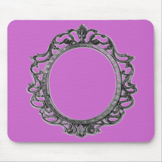 mousepad de la princesa del rosa del marco del esp alfombrillas de raton